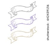 ribbon banners. hand drawn... | Shutterstock . vector #642439156