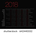 template with a calendar for... | Shutterstock .eps vector #642440332