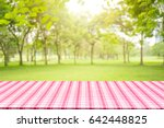 empty table and picnic on... | Shutterstock . vector #642448825