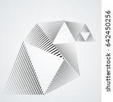vector hipster triangle... | Shutterstock .eps vector #642450256