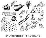 autumn hand drawn symbols | Shutterstock .eps vector #64245148