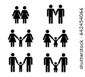 gay family icons over white.... | Shutterstock . vector #642454066