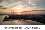 sunset at the port of tilbury ... | Shutterstock . vector #642455092