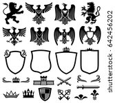 family coat of arms elements... | Shutterstock . vector #642456202
