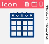 flat icon of calendar   Shutterstock .eps vector #642467032
