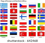 vector flags of europe and... | Shutterstock .eps vector #642468