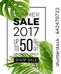 sale banner  poster with palm... | Shutterstock .eps vector #642470722