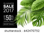 sale banner  poster with palm... | Shutterstock .eps vector #642470752