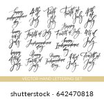 set of independence day hand... | Shutterstock .eps vector #642470818