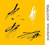vector brush stroke. grunge ink ... | Shutterstock .eps vector #642478906