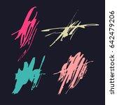 vector brush stroke. grunge ink ... | Shutterstock .eps vector #642479206