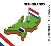 isometric map and flag of... | Shutterstock .eps vector #642482302