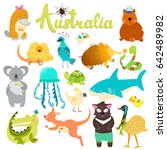 cute animals collection  baby... | Shutterstock . vector #642489982
