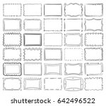 simple doodle  sketch square... | Shutterstock . vector #642496522