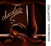 liquid chocolate  caramel or...   Shutterstock .eps vector #642497902