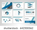 blue layout brochure design ... | Shutterstock .eps vector #642500362