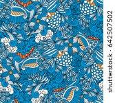 blue colored kaleidoscope... | Shutterstock . vector #642507502