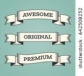 set of trendy vector vintage...   Shutterstock .eps vector #642508252