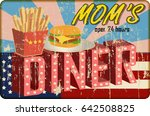 grungy diner sign  retro style  ...   Shutterstock .eps vector #642508825