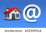 small house model icon and at... | Shutterstock . vector #642509416