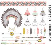 native tribal elements | Shutterstock .eps vector #642515056