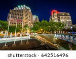 modern buildings and metro... | Shutterstock . vector #642516496