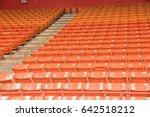 Rows Of Multilevel Empty Orang...
