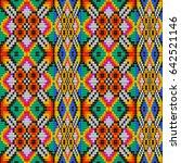 seamless ethnic tribal pattern... | Shutterstock .eps vector #642521146