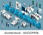 isometric cartoon people vector ... | Shutterstock .eps vector #642529906