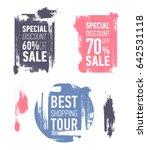 grunge modern sale stickers.... | Shutterstock .eps vector #642531118