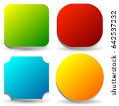 badge  button  banner set in 4... | Shutterstock .eps vector #642537232
