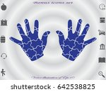 hand puzzle  icon  vector... | Shutterstock .eps vector #642538825