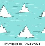seamless pattern with iceberg... | Shutterstock .eps vector #642539335