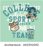 cute sports division with bunny ... | Shutterstock .eps vector #642541042