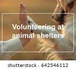 concept of volunteering at... | Shutterstock . vector #642546112