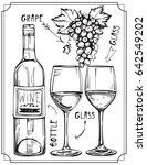 a set of wine bottles  wine... | Shutterstock .eps vector #642549202