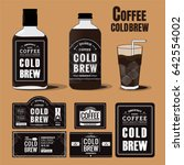 collection of coffee cold brew... | Shutterstock .eps vector #642554002