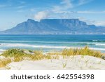 cape town table mountain across ... | Shutterstock . vector #642554398