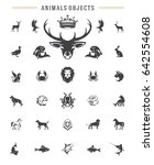 Animals Silhouettes Objects...