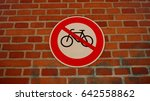bicycle stop sign. bicycle ban. ... | Shutterstock . vector #642558862