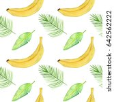 seamless pattern with tropical...   Shutterstock . vector #642562222