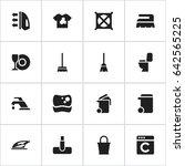 set of 16 editable hygiene... | Shutterstock .eps vector #642565225