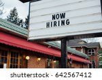 typical american now hiring... | Shutterstock . vector #642567412