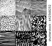 set of vector hand drawn... | Shutterstock .eps vector #642568252