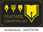 feather logotype set | Shutterstock .eps vector #642570796