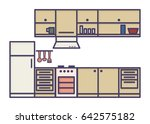 kitchen line art | Shutterstock .eps vector #642575182
