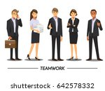 business people teamwork ... | Shutterstock .eps vector #642578332
