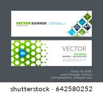 abstract vector set of modern... | Shutterstock .eps vector #642580252