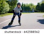 cute little child  boy  ... | Shutterstock . vector #642588562