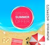 special summer offer | Shutterstock .eps vector #642599272